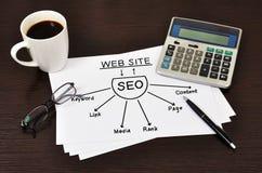 Diagram seo Stock Photography
