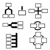 Diagram set Royalty Free Stock Photo