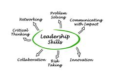 Diagram of Leadership Skills. Diagram of Seven Leadership Skills vector illustration