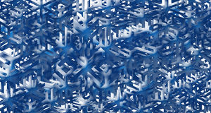 Diagram snöflingor Royaltyfria Bilder