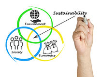 Diagram of sustainability. Presentation of diagram of sustainability stock image
