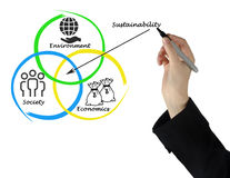 diagram of sustainability Royalty Free Stock Photo