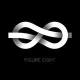 Diagram symbol för åtta fnuren Arkivbilder