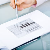 Diagram on table Stock Image