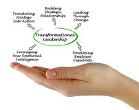 Diagram of Transformational Leadership stock image