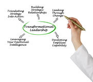 Diagram of Transformational Leadership stock photos