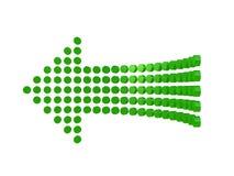 Diagram una freccia isolata su fondo bianco Fotografia Stock