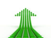 Diagram une flèche d'isolement sur le fond blanc Image stock