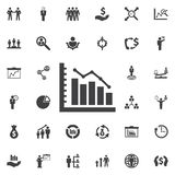 Diagram up icon. Business icons set Royalty Free Stock Images