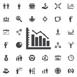 Diagram up icon. Business icons set Royalty Free Stock Image