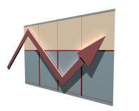 Diagram van financiën Stock Afbeeldingen