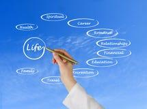 Diagram van het leven Stock Foto's