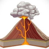 Diagram of volcano Stock Photography
