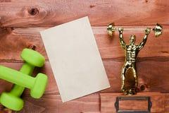 Diagram weightlifter och vikter arkivbilder