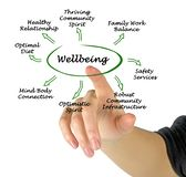Diagram of Wellbeing Royalty Free Stock Photo