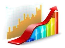 Diagram on a white background. Stock Photos
