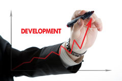 Diagram with the word development Stock Images