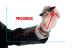 Diagram with the word progress Royalty Free Stock Photos