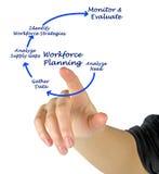 Diagram of Workforce Planning. Presenting diagram of  Workforce Planning Stock Image