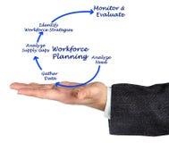 Diagram of Workforce Planning. Presenting Process of Workforce Planning royalty free stock image