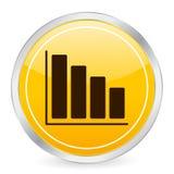 Diagram yellow circle icon Stock Photo
