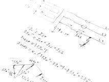 Diagram z analizą sieć skrót - obwód Zdjęcie Stock
