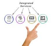 Diagram zintegrowane usługa Zdjęcie Royalty Free