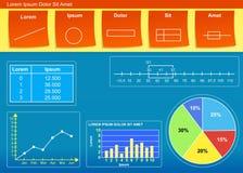 Diagrama Ilustração Stock
