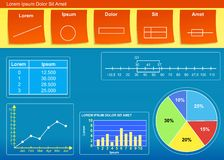Diagrama Imagens de Stock