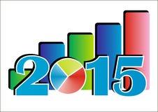 diagrama 2015 Fotografia de Stock Royalty Free