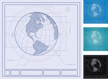 Diagrama arquitectónico da terra Foto de Stock Royalty Free