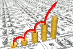 diagrama biznesowy sukces Zdjęcia Stock