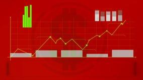 Diagrama, carta de crecimiento, gráfico, ilustración del vector