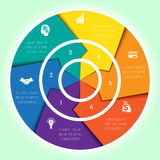 Diagrama cíclico do molde para Infographic seis posições Imagem de Stock Royalty Free