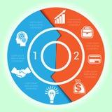 Diagrama cíclico do molde para a posição de Infographic dois Fotografia de Stock Royalty Free