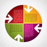 Diagrama colorido com setas Fotos de Stock