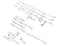 Diagrama con el análisis del cortocircuito de la red Fotografía de archivo libre de regalías
