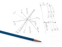 Diagrama con el análisis del cortocircuito de la red Imagen de archivo libre de regalías