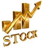 Diagrama conservado em estoque das barras de ouro Foto de Stock