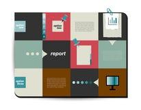 Diagrama cuadrado de la plantilla Fotos de archivo libres de regalías