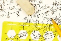 Diagrama da condução por meio de canos e da instrumentação foto de stock royalty free