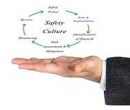 Diagrama da cultura da segurança foto de stock royalty free