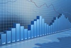 Diagrama da finança Imagens de Stock Royalty Free