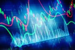 Diagrama da finança do mercado de valores de ação, fundo do negócio Fotos de Stock Royalty Free