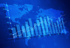 Diagrama da finança do mercado de valores de ação fotografia de stock