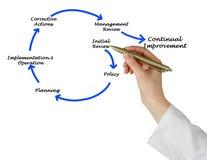 Diagrama da gestão Fotografia de Stock