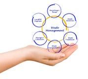 Diagrama da gestão de resíduos Imagem de Stock Royalty Free