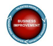 Diagrama da melhoria do negócio Foto de Stock