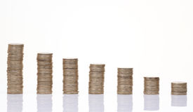 Diagrama da moeda Foto de Stock