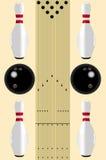 Diagrama da pista do bowling ilustração stock